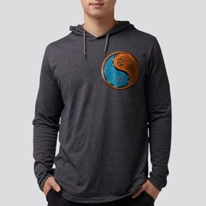 Cancer & Wood Rooster Mens Hooded Shirt