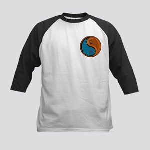 Cancer & Wood Rooster Kids Baseball Tee