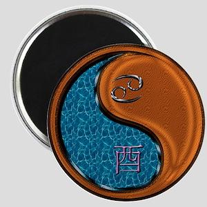 Cancer & Wood Rooster Magnet