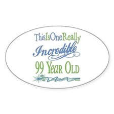 Incredible 99th Oval Sticker