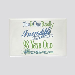 Incredible 98th Rectangle Magnet