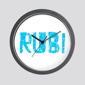 Rubi Faded (Blue) Wall Clock