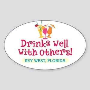 Drinks Well With Others - Oval Sticker