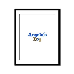 Angela's Boy Framed Panel Print