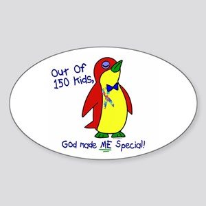 God Made Me Special 1.2 (Autism) Oval Sticker