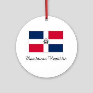 Dominican Republic Flag Ornament (Round)