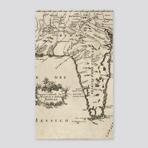 Vintage Map of Florida (1763) 2 Area Rug