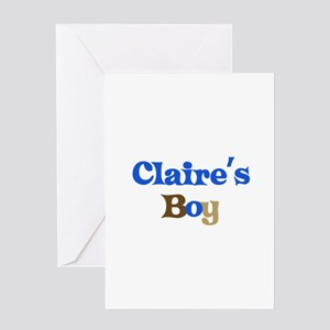 Claire's Boy Greeting Card