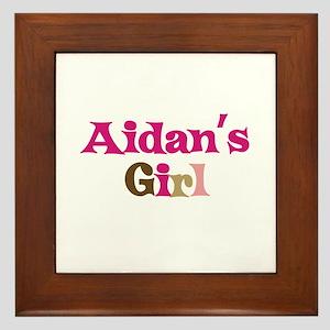Aidan's Girl Framed Tile