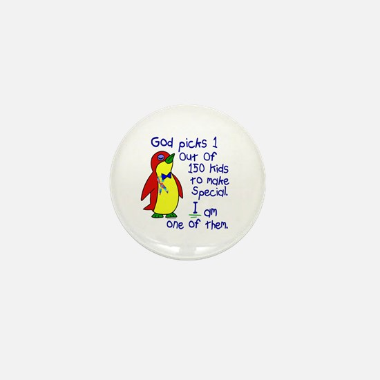 God Made Me Special 1.3 (Autism) Mini Button