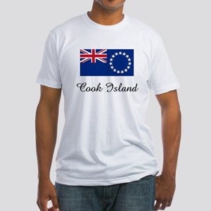 Cook Island Flag Fitted T-Shirt