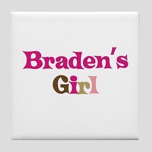 Braden's Girl Tile Coaster