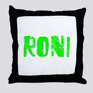 Roni Faded (Green) Throw Pillow