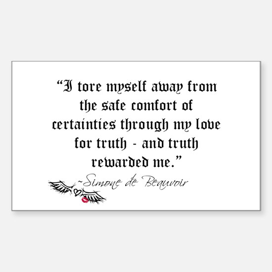 Truth Quote Rectangle Decal