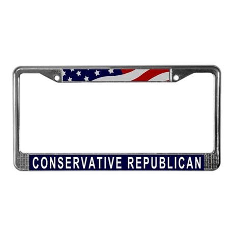 Conservative Republican License Plate Frame