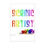 Scenic Artist Mini Poster Print