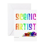 Scenic Artist Greeting Card