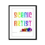 Scenic Artist Framed Panel Print