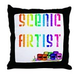 Scenic Artist Throw Pillow