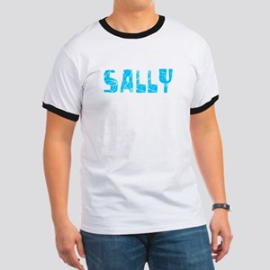 Sally Faded (Blue) Ringer T