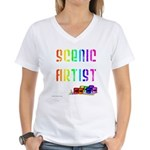 Scenic Artist Women's V-Neck T-Shirt