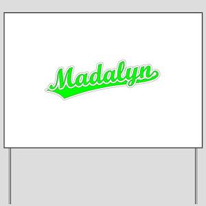 Retro Madalyn (Green) Yard Sign