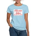 Educated Latina Women's Pink T-Shirt