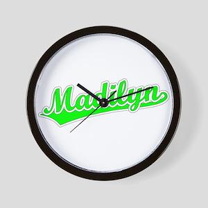 Retro Madilyn (Green) Wall Clock
