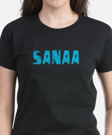 Sanaa Faded (Blue) Women's Dark T-Shirt