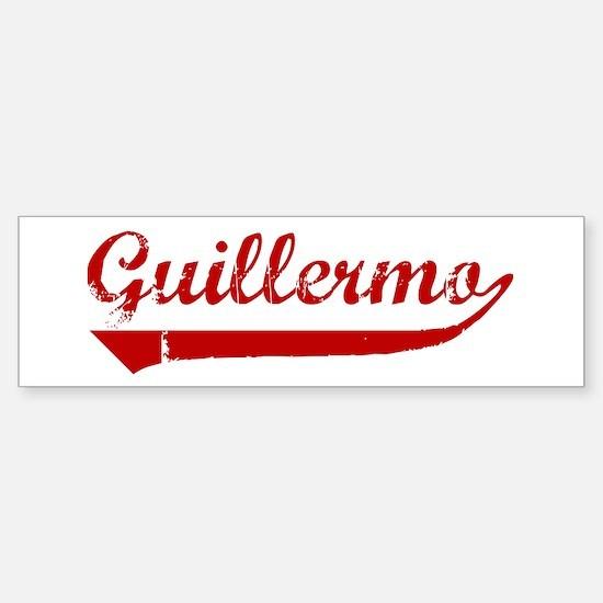 Guillermo (red vintage) Bumper Bumper Bumper Sticker