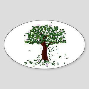 Magnolia Oval Sticker