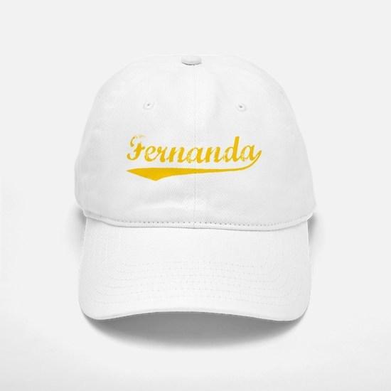 Vintage Fernanda (Orange) Baseball Baseball Cap