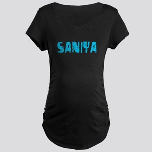 Saniya Faded (Blue) Maternity Dark T-Shirt