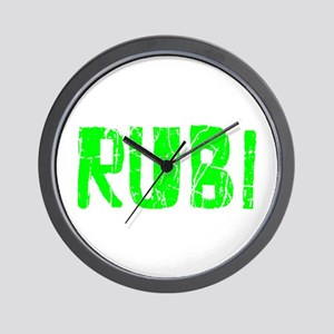 Rubi Faded (Green) Wall Clock