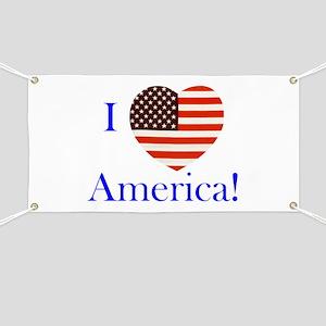 I Love America! Banner