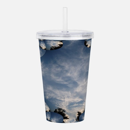 Sunset Fractal Tracing Acrylic Double-wall Tumbler