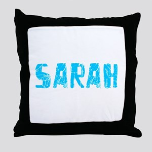 Sarah Faded (Blue) Throw Pillow