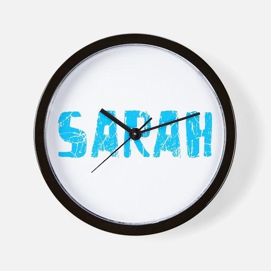 Sarah Faded (Blue) Wall Clock