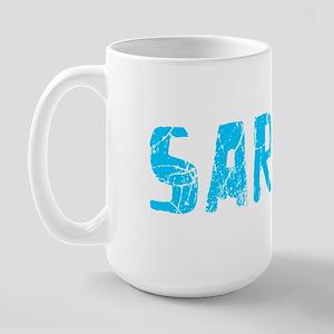 Sarah Faded (Blue) Large Mug