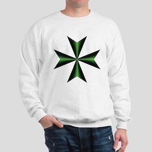 Green Maltese Cross Sweatshirt