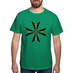 Green Maltese Cross Dark T-Shirt