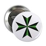 Green Maltese Cross 2.25