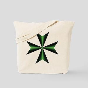 Green Maltese Cross Tote Bag