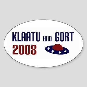 Klaatu and Gort 2008 Oval Sticker