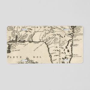 Vintage Map of Florida (176 Aluminum License Plate