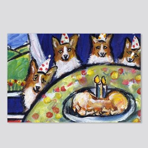 WELSH CORGI birthday party! Postcards (Package of