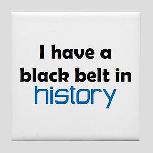 history black belt Tile Coaster