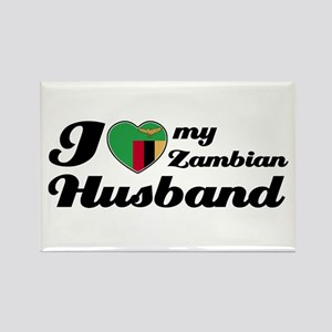 I love my Zambian Husband Rectangle Magnet