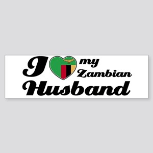I love my Zambian Husband Bumper Sticker