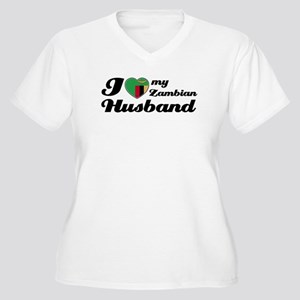 I love my Zambian Husband Women's Plus Size V-Neck